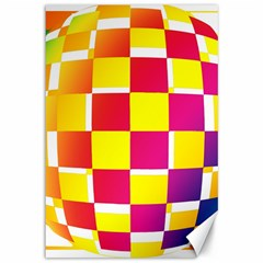 Squares Colored Background Canvas 12  X 18