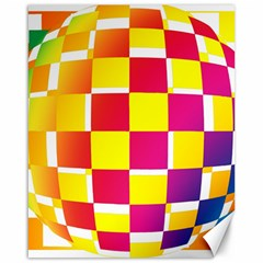 Squares Colored Background Canvas 16  X 20