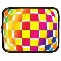 Squares Colored Background Netbook Case (large)