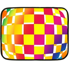 Squares Colored Background Double Sided Fleece Blanket (mini)