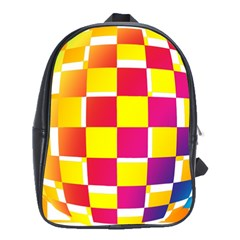 Squares Colored Background School Bags(large)