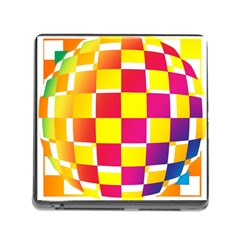 Squares Colored Background Memory Card Reader (Square)