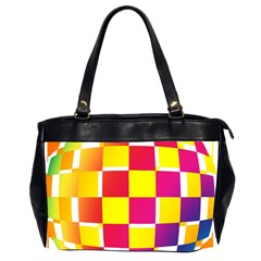 Squares Colored Background Office Handbags (2 Sides)