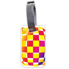 Squares Colored Background Luggage Tags (Two Sides)