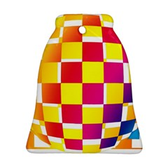 Squares Colored Background Bell Ornament (two Sides)