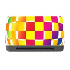 Squares Colored Background Memory Card Reader With Cf
