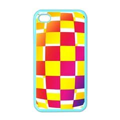 Squares Colored Background Apple Iphone 4 Case (color)