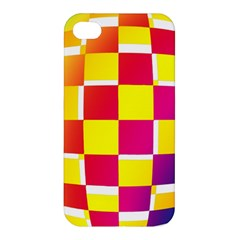 Squares Colored Background Apple Iphone 4/4s Hardshell Case