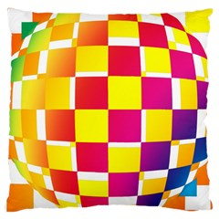 Squares Colored Background Large Cushion Case (One Side)
