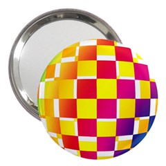 Squares Colored Background 3  Handbag Mirrors