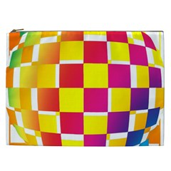 Squares Colored Background Cosmetic Bag (xxl)