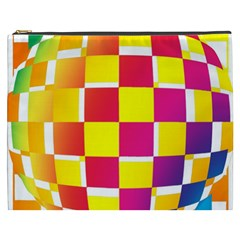 Squares Colored Background Cosmetic Bag (XXXL)