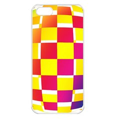 Squares Colored Background Apple iPhone 5 Seamless Case (White)