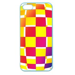 Squares Colored Background Apple Seamless iPhone 5 Case (Color)