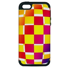 Squares Colored Background Apple iPhone 5 Hardshell Case (PC+Silicone)