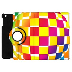 Squares Colored Background Apple Ipad Mini Flip 360 Case