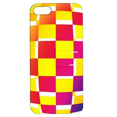 Squares Colored Background Apple iPhone 5 Hardshell Case with Stand