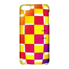 Squares Colored Background Apple iPod Touch 5 Hardshell Case with Stand