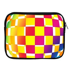 Squares Colored Background Apple Ipad 2/3/4 Zipper Cases