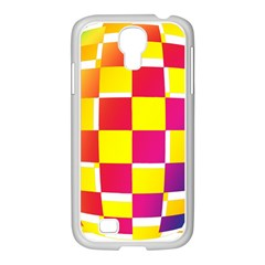 Squares Colored Background Samsung GALAXY S4 I9500/ I9505 Case (White)