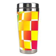Squares Colored Background Stainless Steel Travel Tumblers