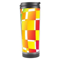 Squares Colored Background Travel Tumbler