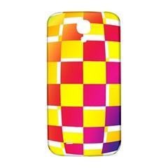 Squares Colored Background Samsung Galaxy S4 I9500/I9505  Hardshell Back Case