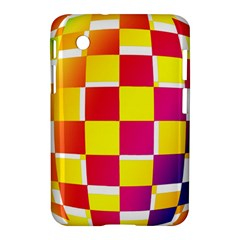 Squares Colored Background Samsung Galaxy Tab 2 (7 ) P3100 Hardshell Case