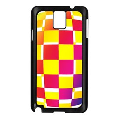 Squares Colored Background Samsung Galaxy Note 3 N9005 Case (Black)