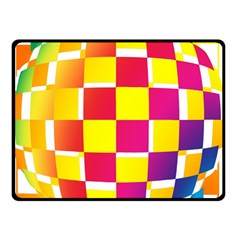 Squares Colored Background Double Sided Fleece Blanket (small)