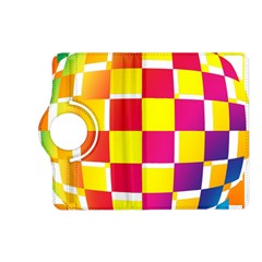 Squares Colored Background Kindle Fire HD (2013) Flip 360 Case