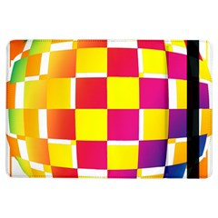 Squares Colored Background iPad Air Flip