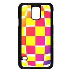 Squares Colored Background Samsung Galaxy S5 Case (black)