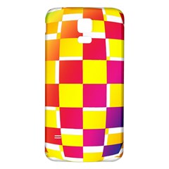 Squares Colored Background Samsung Galaxy S5 Back Case (White)