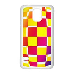 Squares Colored Background Samsung Galaxy S5 Case (White)
