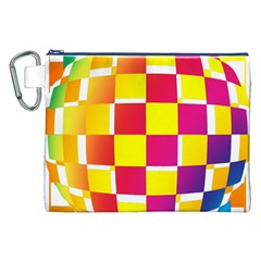 Squares Colored Background Canvas Cosmetic Bag (xxl)