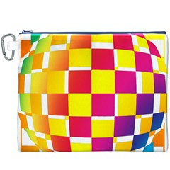 Squares Colored Background Canvas Cosmetic Bag (xxxl)