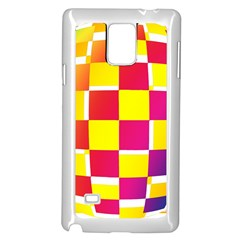 Squares Colored Background Samsung Galaxy Note 4 Case (white)