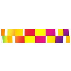 Squares Colored Background Flano Scarf (Small)