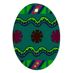 A Colorful Modern Illustration Ornament (oval)