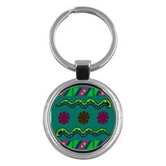 A Colorful Modern Illustration Key Chains (round)