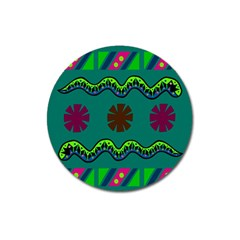 A Colorful Modern Illustration Magnet 3  (round)