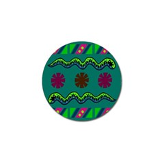A Colorful Modern Illustration Golf Ball Marker (10 pack)
