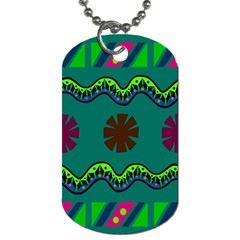 A Colorful Modern Illustration Dog Tag (two Sides)