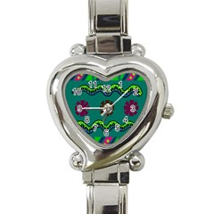 A Colorful Modern Illustration Heart Italian Charm Watch