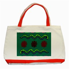 A Colorful Modern Illustration Classic Tote Bag (Red)