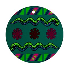 A Colorful Modern Illustration Round Ornament (Two Sides)
