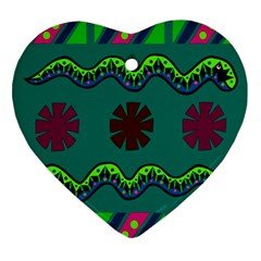 A Colorful Modern Illustration Heart Ornament (two Sides)