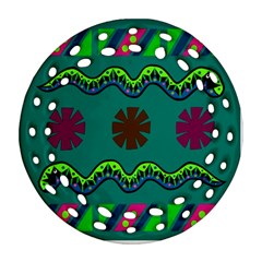 A Colorful Modern Illustration Ornament (Round Filigree)