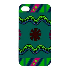 A Colorful Modern Illustration Apple iPhone 4/4S Premium Hardshell Case